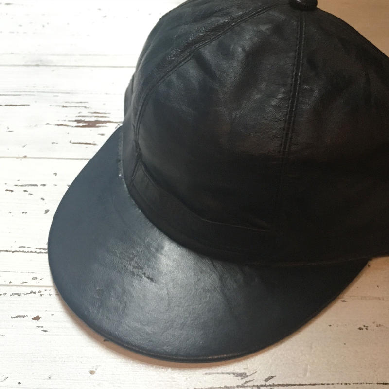 1960's Unknown Leather Cap Deadstock
