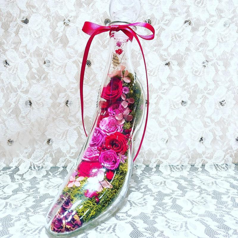 花ギフト ガラスの靴 Cinderella shoes Special