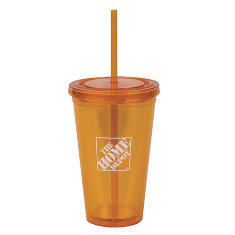 16 oz. Insulated Cup in Orange