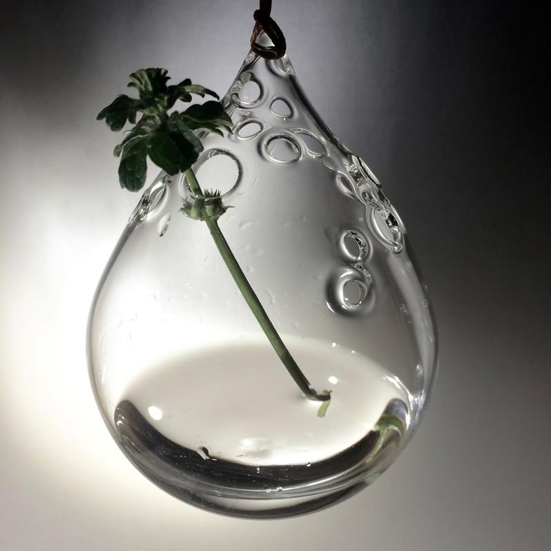 -Bubble drop- flower vase 一輪挿し 吊り花器