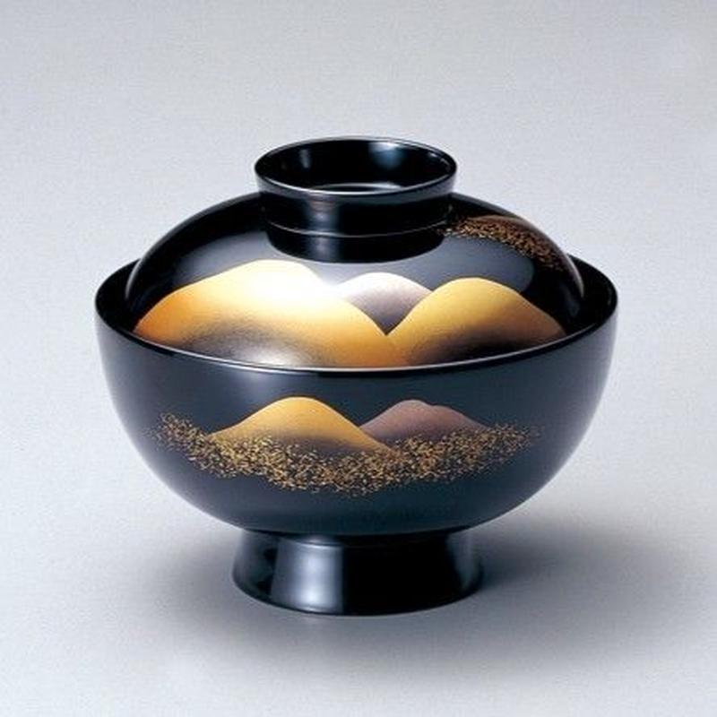 遠山 吸物椀(黒)5客セット