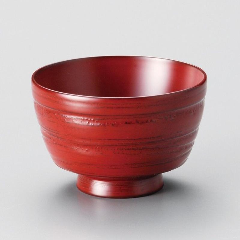 地の粉 振袖汁椀(古代朱)