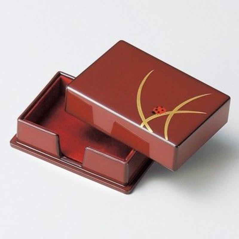 てんとう虫蒔絵 名刺入(古代朱)