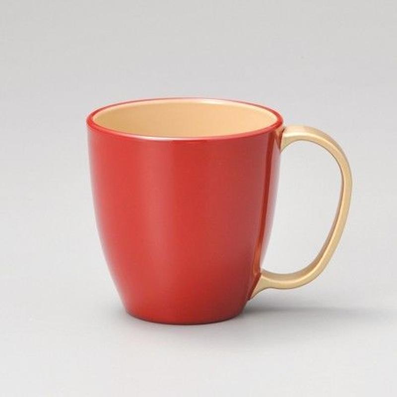 持ち手金 マグカップ(朱)