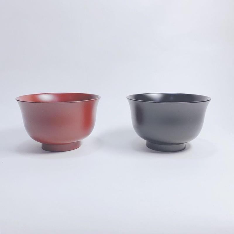 MR羽反汁椀(黒・朱)