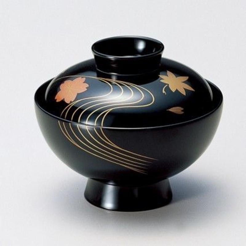 竜田川 吸物椀(黒)5客セット