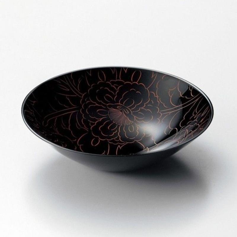 黒牡丹彫丸ボール(黒)