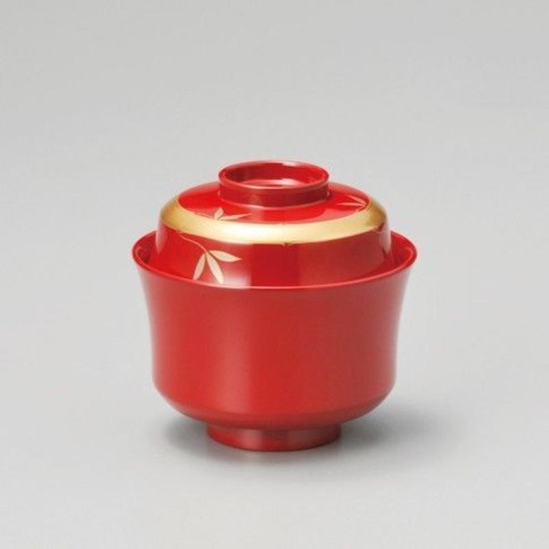 輪竹 吸物椀(朱)5客セット