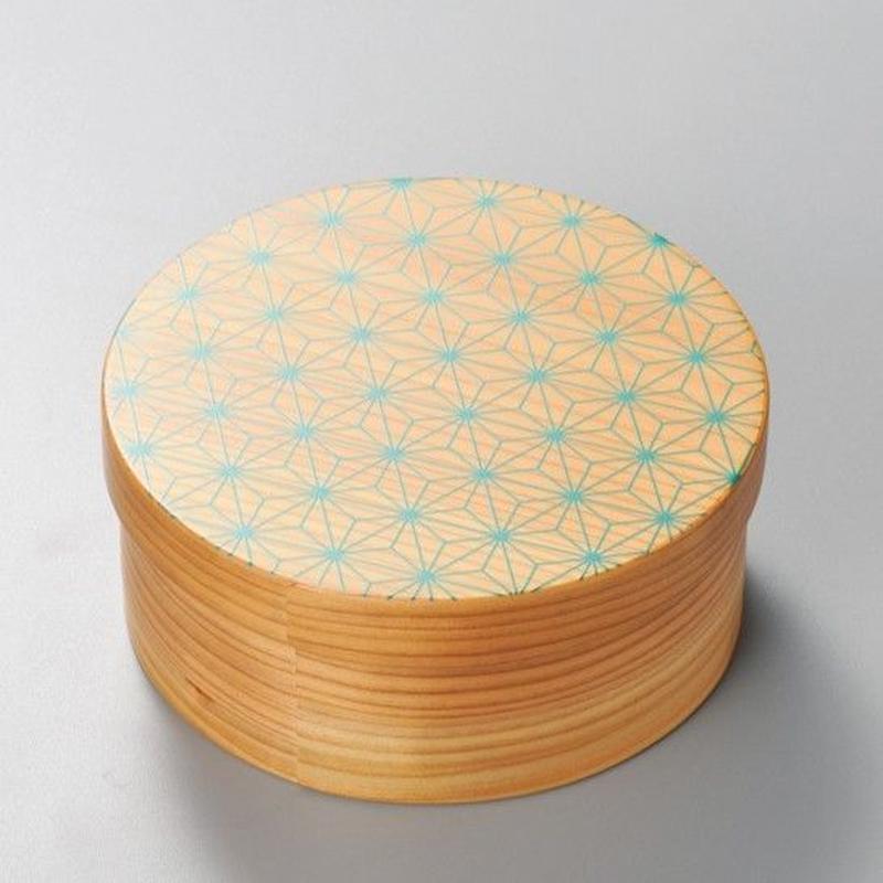 麻の葉 日本の弁当箱 丸