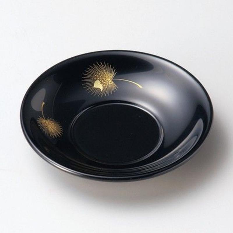 沈金飛花 3.0茶托(黒)5枚セット