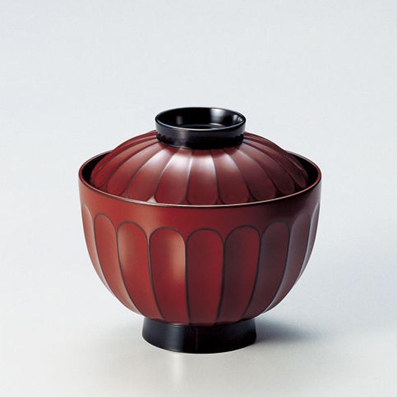 菊割 吸物椀(古代根来)5客セット