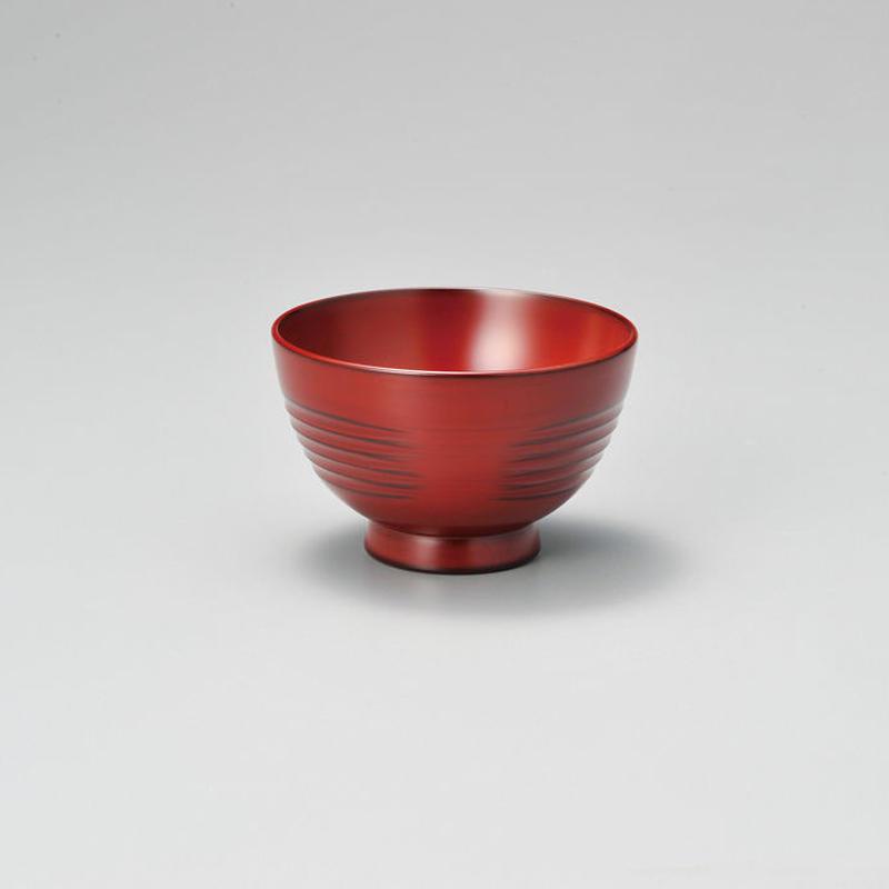参もよう 汁椀(古代朱)