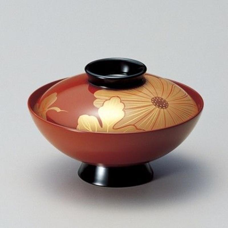 白菊 吸物椀(古代朱)5客セット
