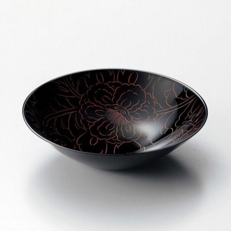 朱牡丹彫丸ボール(黒)