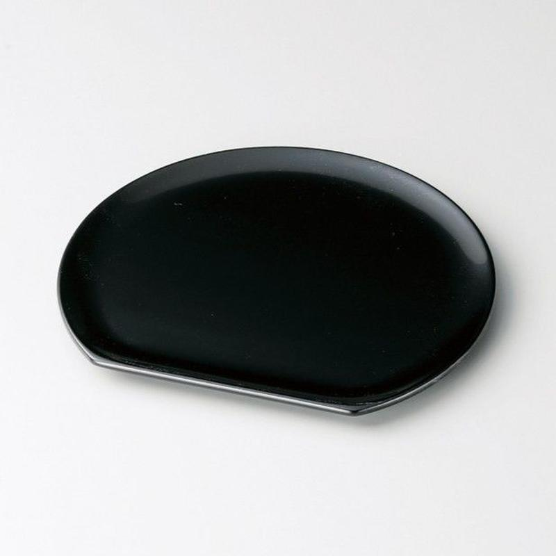 半月銘々皿(黒)5枚セット
