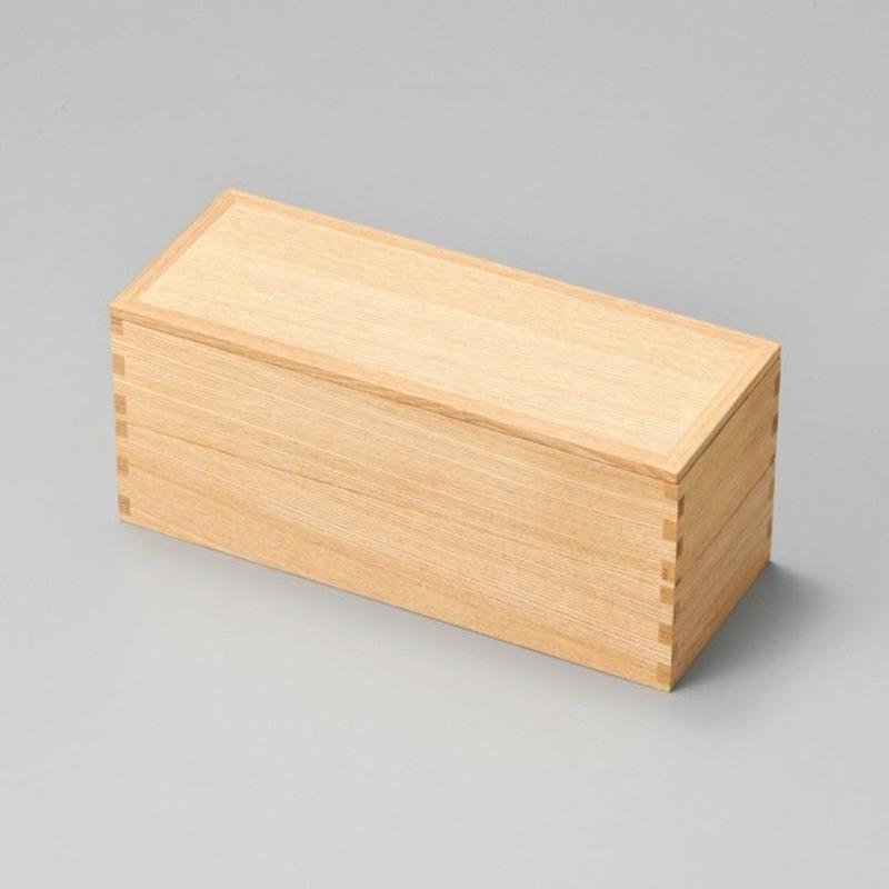 白木塗タモ二段弁当(大)