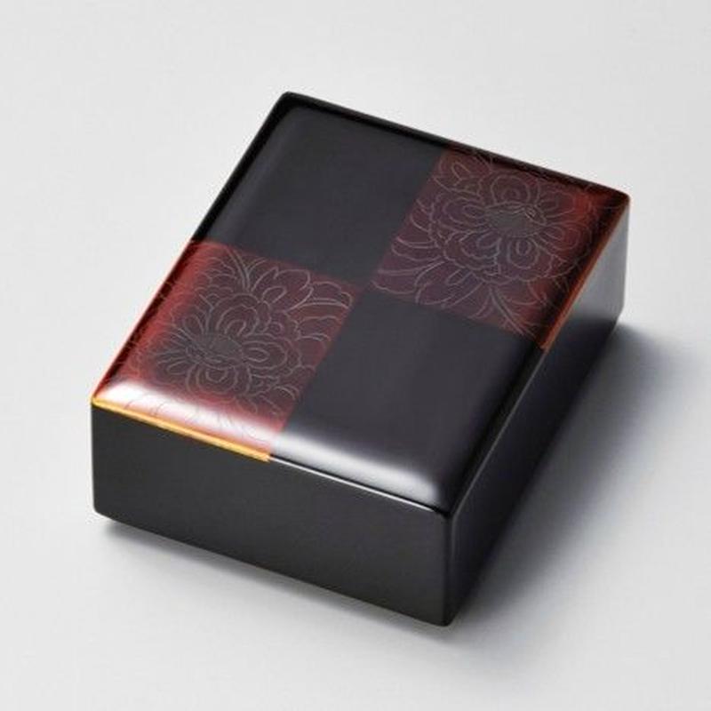 牡丹彫 白檀市松 ロイヤル箱(黒)