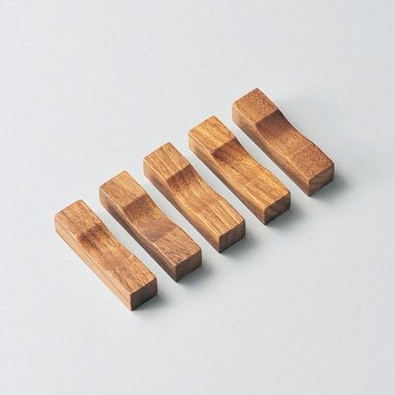 箸置・角(ウォールナット)5個セット