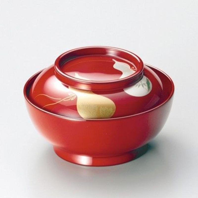 瓢 菓子椀 小煮物椀(朱)5客セット