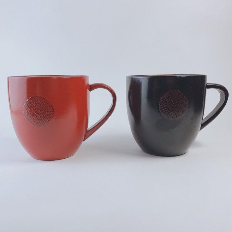 水玉カップ(黒・赤)