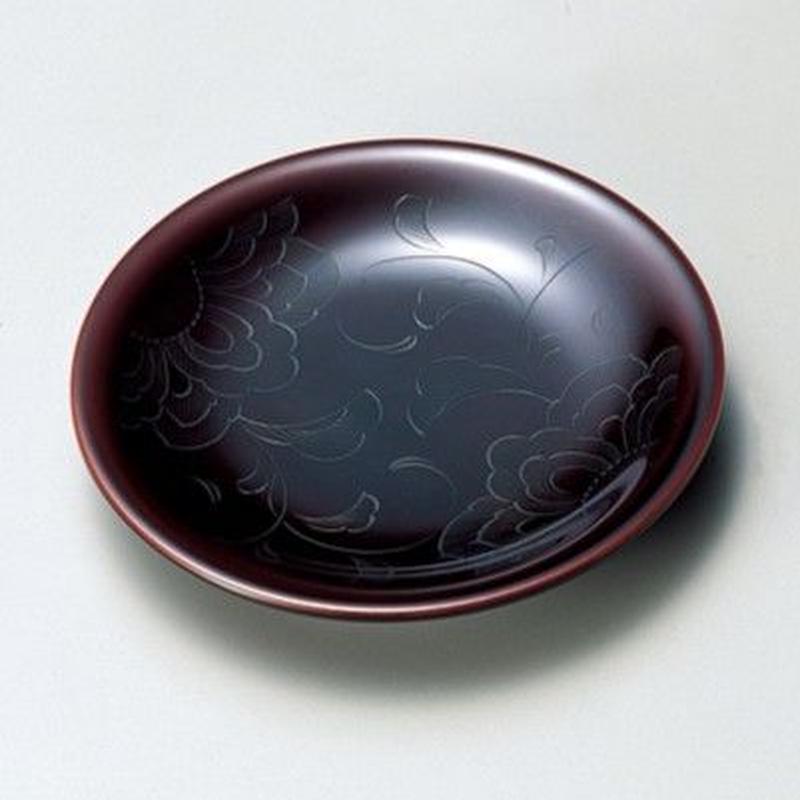 花彫り 銘々皿(溜)5枚セット