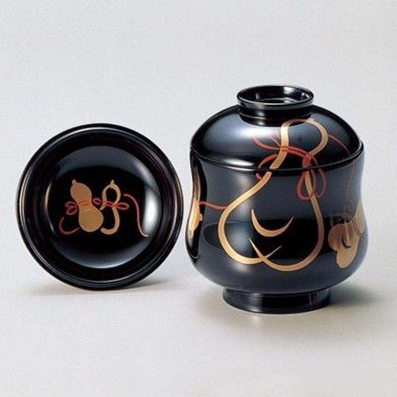 ひょうたん 小吸椀(黒) 5客セット