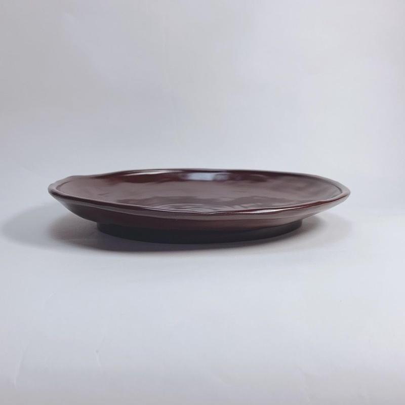 ランチ皿(溜)