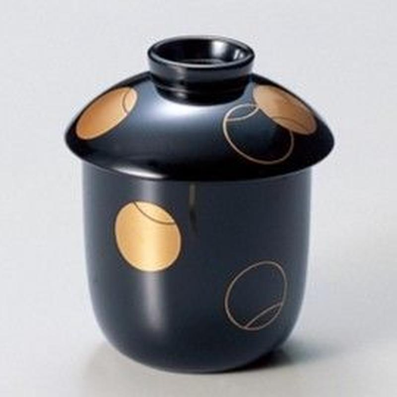 つぼつぼ 小吸椀(黒) 5客セット