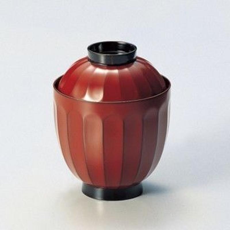 菊割 小吸物椀(古代根来)5客セット