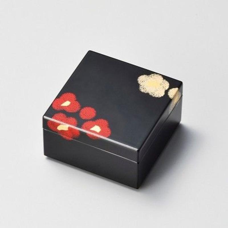 うるし華 角小箱(黒)