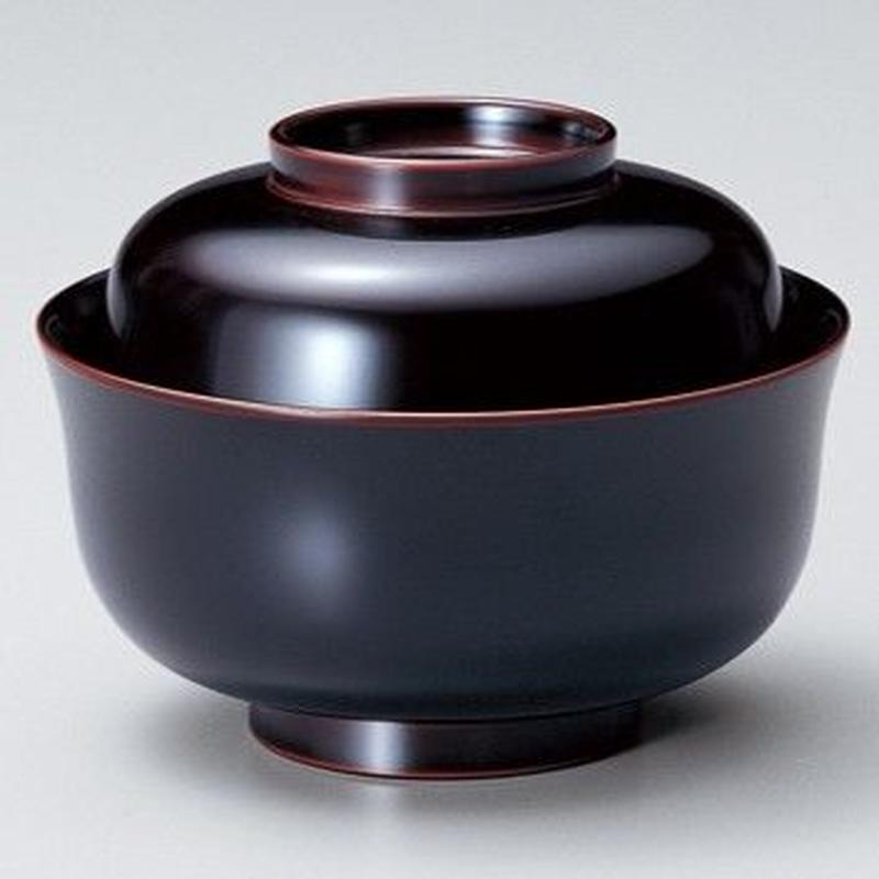 ちどり型煮物椀(溜)5客セット