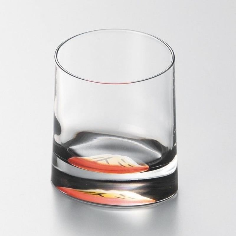 赤富士 オールドグラス(黒)