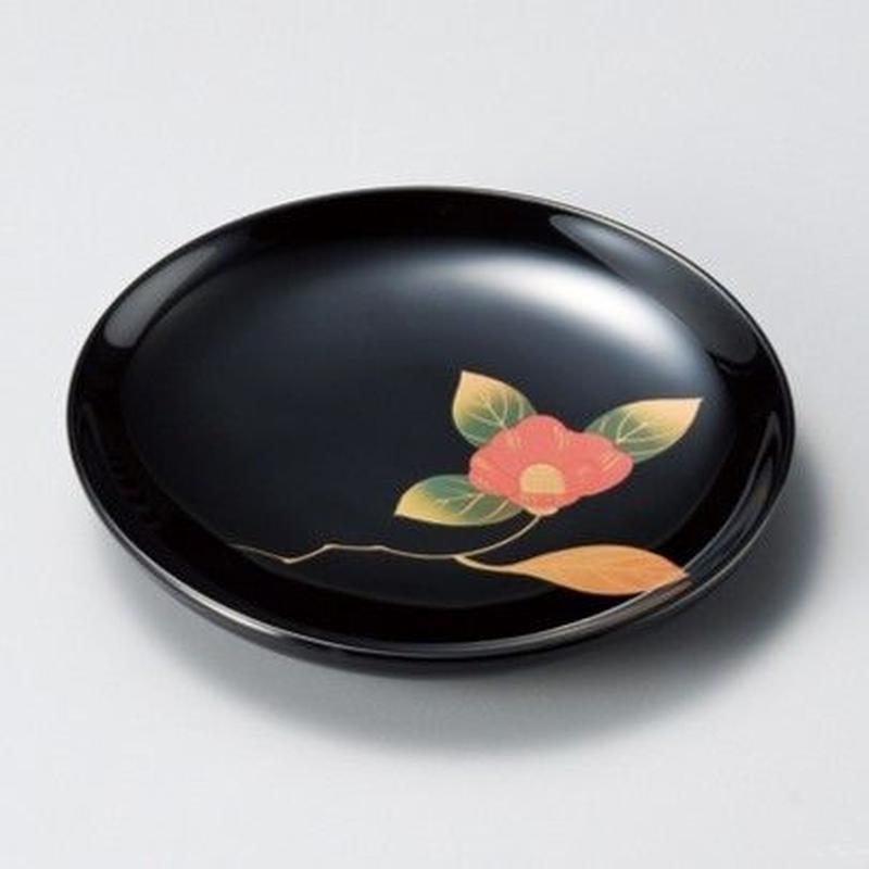椿 銘々皿(黒)5枚セット
