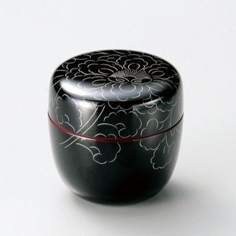 プラチナ牡丹彫 中棗(溜)