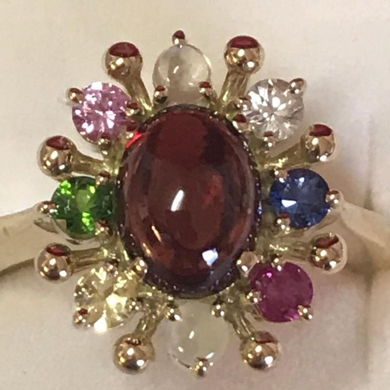 Star VenusⓇ Jewelry  ナワラタナ ガーネットリング【限定販売】