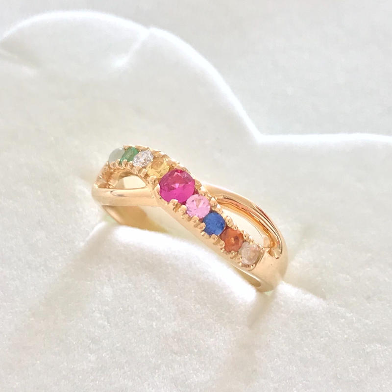 Star VenusⓇ Jewelry【期間限定オーダー】  ナワラタナInfinity Ring  センターストーン:ルビー