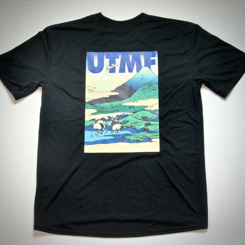 UTMF x BRING Tシャツ 北斎柄 黒
