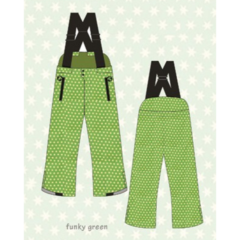 ducksday Winterpants with braces  Funky green ( 2y / 4y / 6y )