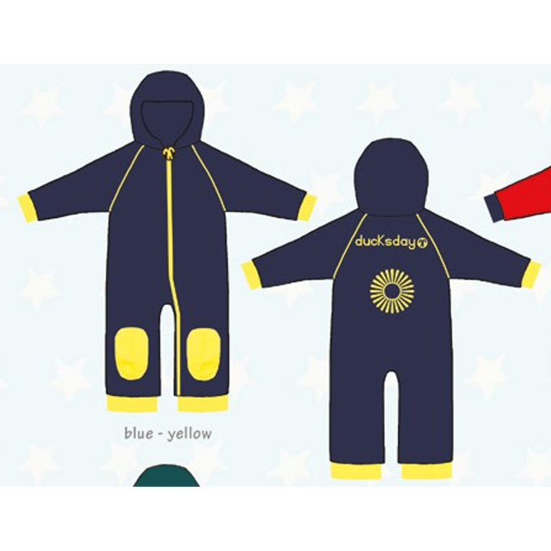 ducksday Fleece suits Blue/yellow ( 98-104cm~104-116cm )