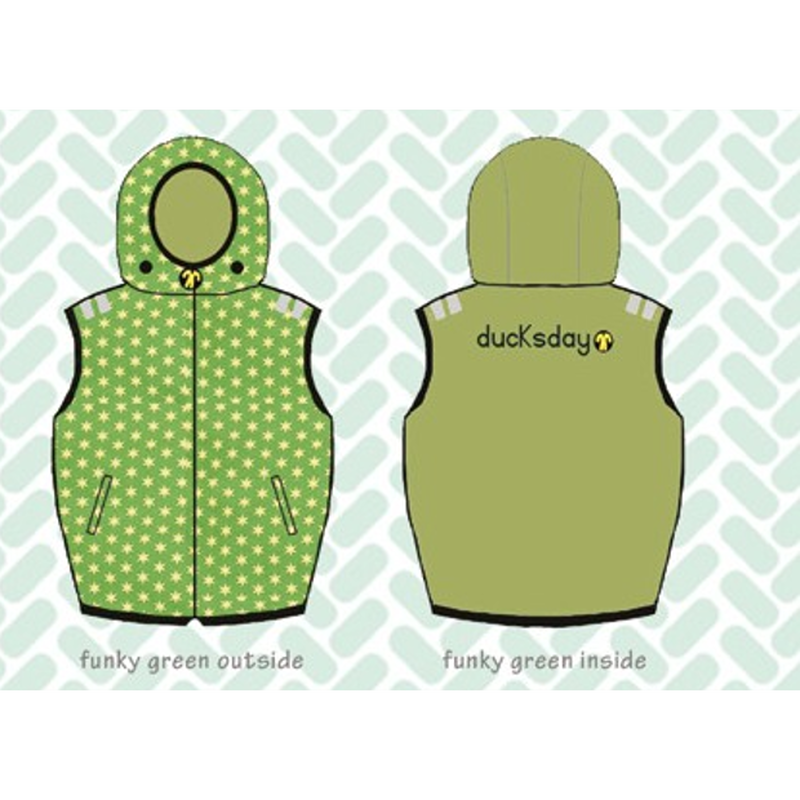 ducksday Body warmers Funky green ( 8y / 10y / 12y )