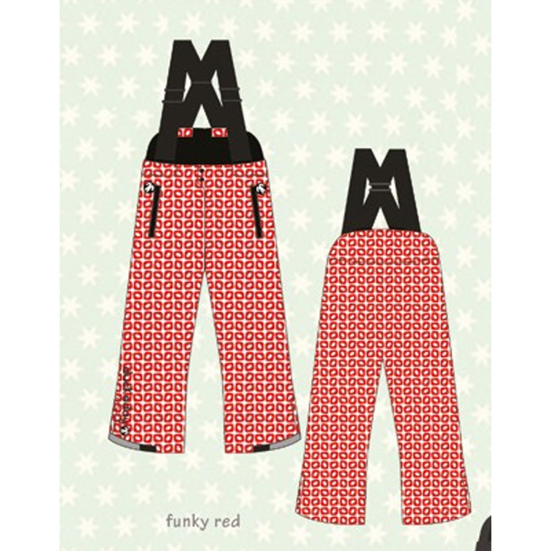 ducksday Winterpants with braces Funky red ( 2y / 4y / 6y )