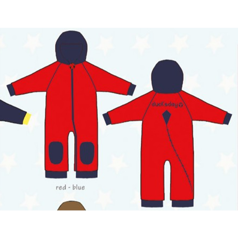 ducksday Fleece suits Red/blue ( 98-104cm~104-116cm )