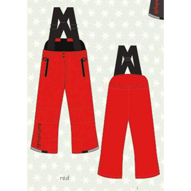 ducksday Winterpants with braces  Red ( 8y / 10y / 12y )