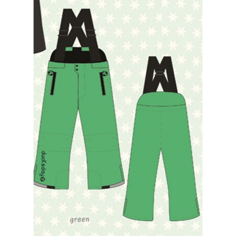 ducksday Winterpants with braces  Green ( 8y / 10y / 12y )
