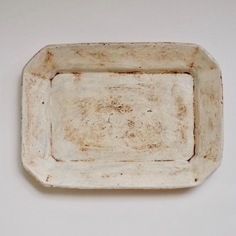 白化粧八角皿