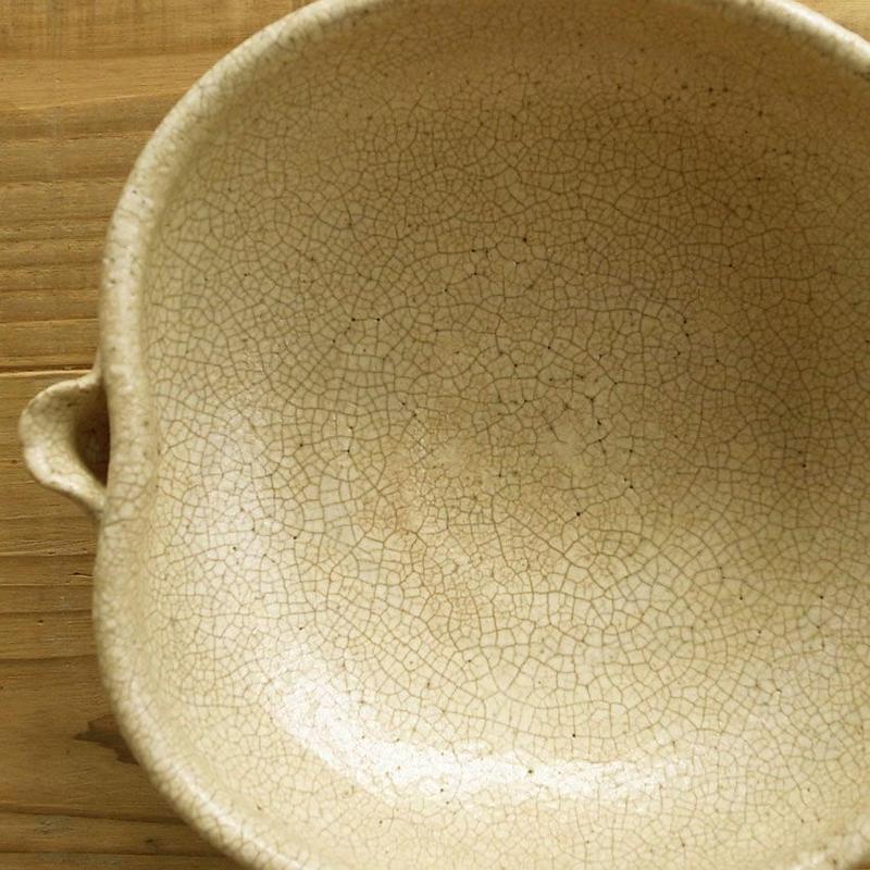 京焼粉引片口浅鉢