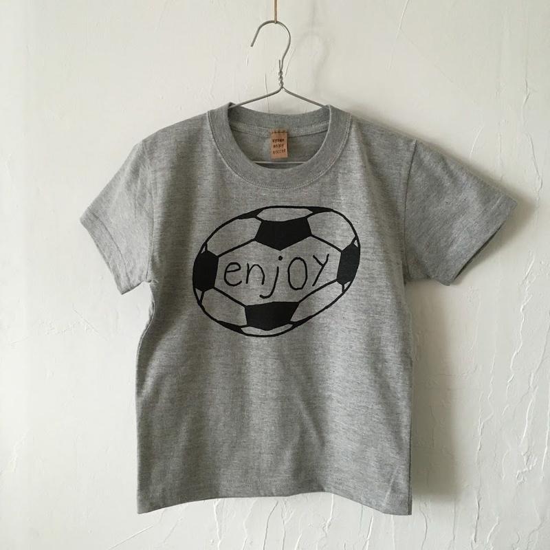 ▲送料無料 120サイズ/半そで uyoga enjoy soccer Tシャツ 5.6oz ミックスグレー