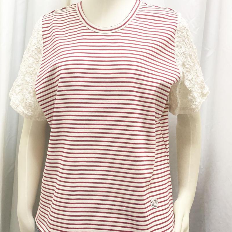 厚手ボーダーT-shirts <Red>