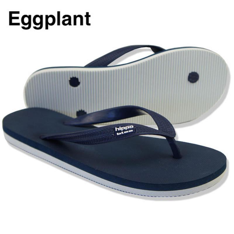 Hippobloo, ビーチサンダル, Eggplant, ロゴ貼り付け型