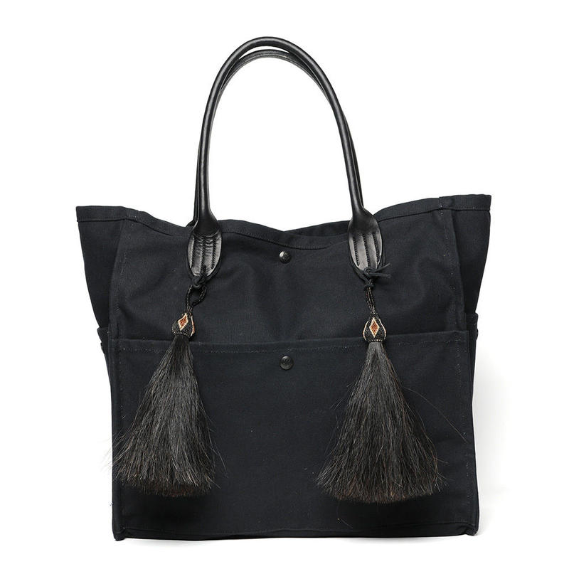 Yuketen  French Seam Tote with Horsehair Tassel/YUKETEN